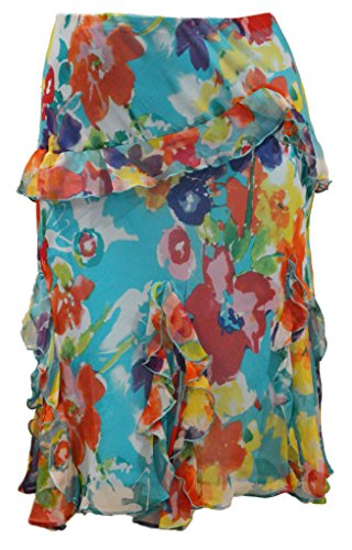Lauren Ralph Lauren Plus Size Floral-Print A-Line Skirt (3X)