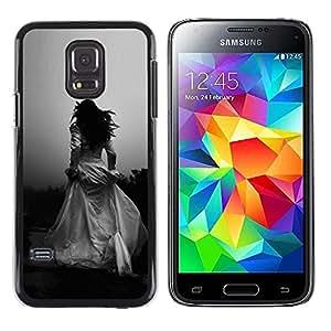 LECELL--Funda protectora / Cubierta / Piel For Samsung Galaxy S5 Mini, SM-G800, NOT S5 REGULAR! -- Woman Black White Wedding Escape --