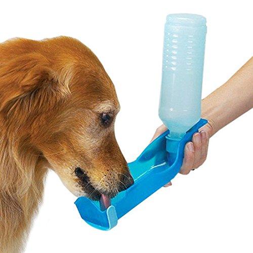DDLBiz New 250ml Foldable Pet Dog Cat Water Bottle Drinking Dispenser Travel Feeding ()