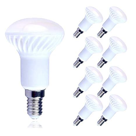Lampaous 8X R50 - Bombilla LED de bajo consumo 5 W, E14, color blanco