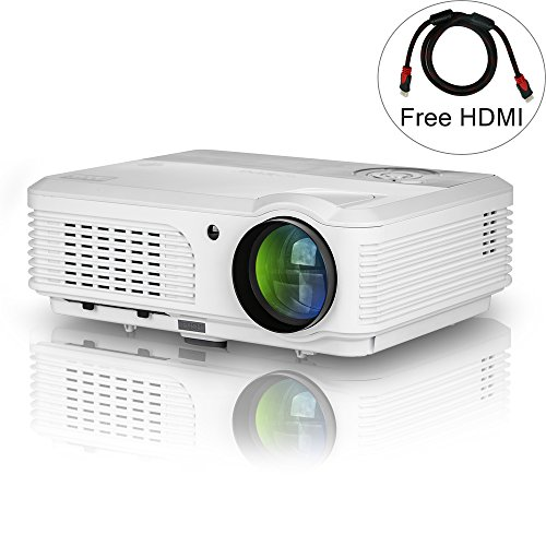 EUG Outdoor Theater LCD Projector with HDMI USB Input Sup...