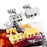 good battery terminal - Audew 2 Pcs 4/8 Awg Positive Negative Battery Terminal Platinum Gold Auto Car