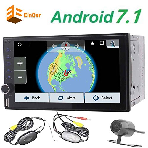EinCar 7'' Android 6.0 Octa Core Car Stereo Autoradio with HD Capacitive Touch Screen In Dash GPS Navigation 2 Din Multimedia Receiver Support Bluetooth/WiFi/OBD2/Mirror Link+ FREE wireless Backup Cam by EinCar