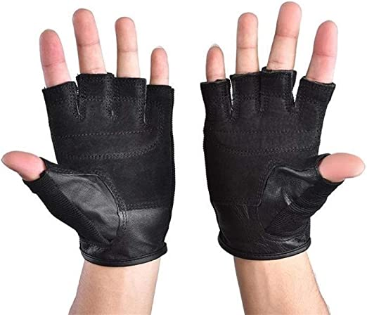 Unisex Half Finger Fitness Gloves Weight Lifting Gloves Protect Wrist Training