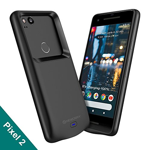 Google Pixel 2 Battery Case, Newdery 4700mAh Rechargeable External Protective Pixel 2 Charger Case with Data Sync Thru, Portable Power Bank Charging Case for Google Pixel 2 by NEWDERY