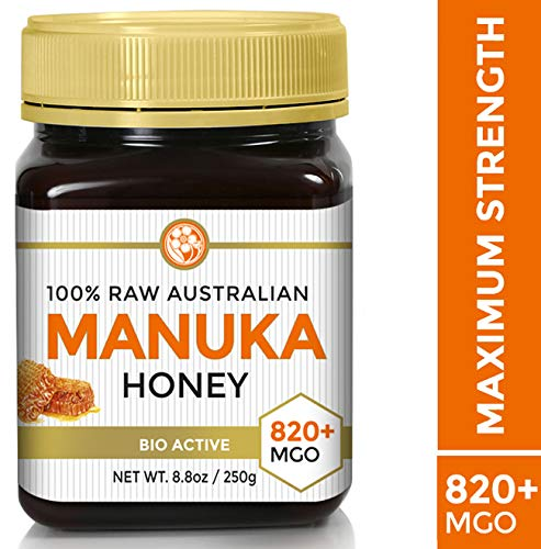 Raw Certified NPA 20+ Highest Grade Manuka Honey MGO 820+ Medicinal Strength - BPA Free Jar - Cold Extraction - Independently Verified 250g