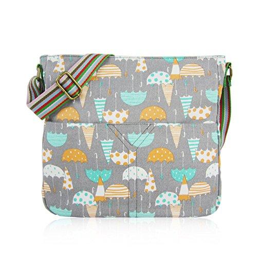 Craze London - Bolso mochila  de Lona para mujer gris