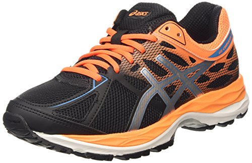 Asics - Gel-Cumulus 17 GS, Zapatillas de Running Niños Negro (Black/Methyl Blue/Flash Coral 9042)
