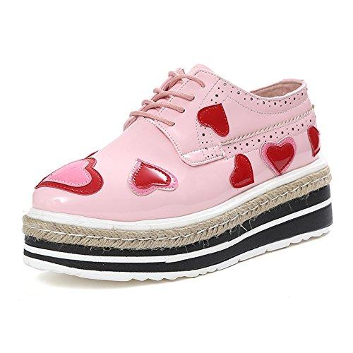 Verdicken Sie Plateauschuhen,England Wind Frauenschuhe,Retro Schuhe,Studentische Schuhe A