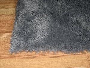 Amazon Com Flokati Faux Fur Rugs 5 X 8 Gray Kitchen