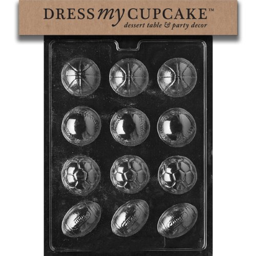 Dress My Cupcake Chocolate Candy Mold, Ball Assorted