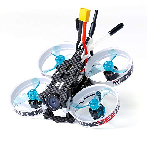 iFlight CineBee 75HD 2-3S Brushless Micro Indoor Racing Drone Whoop 75mm BNF Micro Quadcopter with TBS Crossfire Nano RX/SucceX Mirco F4 Flight Tower ()