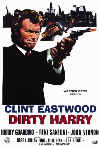Amazon Com Movie Posters 27 X 40 Dirty Harry Posters Prints