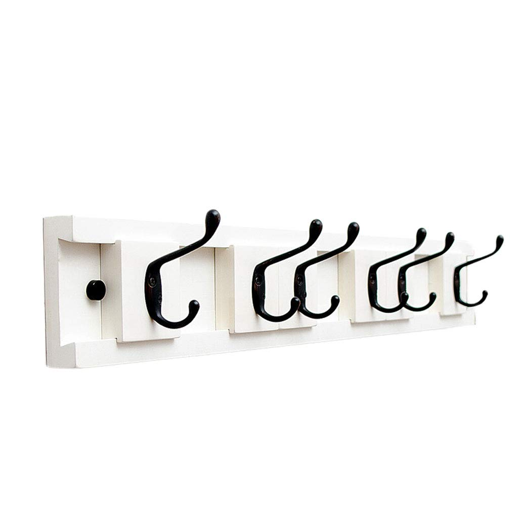 White 6 hooks Removable Wall Coat Hook Wall Hanging Porch Wall Bathroom Bathroom Coat Hook Hanger (color   White, Size   3 Hooks)
