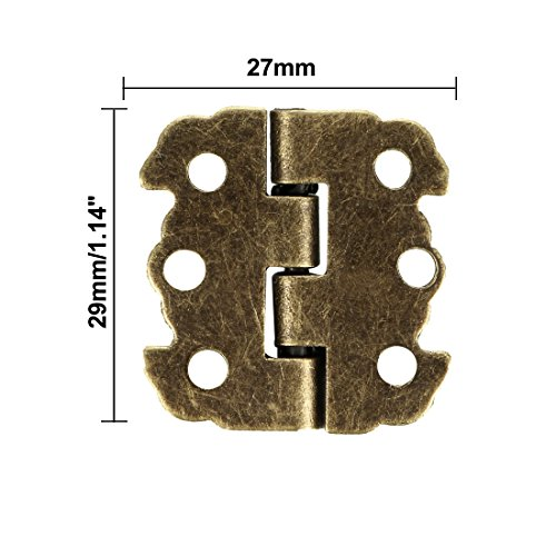 uxcell 2 Antique Bronze Hinges Retro Butterfly Shape Hinge Replacement with Screws 10pcs