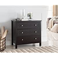 Kings Brand Accent Entryway Console Table with Drawers, Espresso