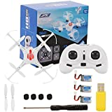 2.4GHz 4 Channel 6-Axis Gyro Drone with Headless Mode One Key Auto-Return Quadcopter RC Quadcopter with 3 Battery White