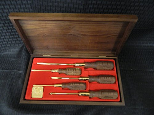 Mac Tools (MAC TOOLS Limited Edition 24K GOLD PLATED Screwdrivers Set of 5, 1986 VERY RARE FOR SCREWDRIVER SET)