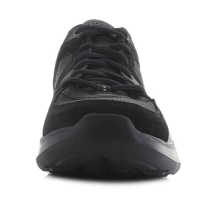 69c23d9d5f79 Skechers Mens Quantum Flex Country Walker Black Lightweight Sports  Trainers  Amazon.co.uk  Shoes   Bags