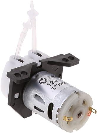 Jili Online DC 12V//24V Peristaltic Miniature Dosing Metering Pump Self Priming with Head /& Connector For Lab Medical Industrial Tester D2 12V