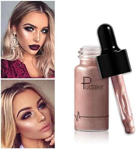 SMYTShop Face Glow Liquid Highlighter Waterproof Contour Make Up Glitter Brighten Shimmer Highlighters Makeup 12 Colors Available (12 Colors:A)