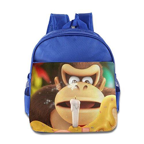 Donkey Kong Tropical Kids School Backpack Bag - Sale On Pradas