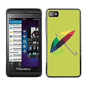 TopCaseStore / la caja del caucho duro de la cubierta de protección de la piel - Design Colorful Umbrella - Blackberry Z10