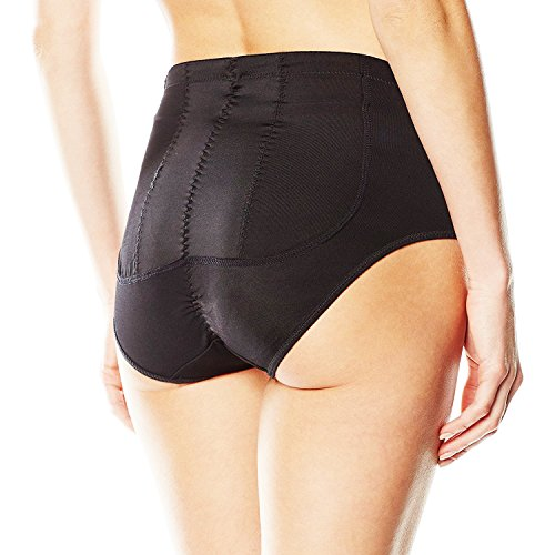 SODACODA Silicone Pads Buttocks Bum Padded Pants Butt Enhancers �?Body Shaping Underwear �?Lowrise Brief Style �?Black or Nude (S-XXL) Black