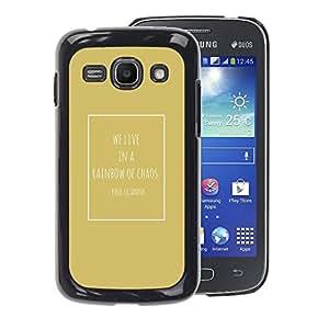 A-type Arte & diseño plástico duro Fundas Cover Cubre Hard Case Cover para Samsung Galaxy Ace 3 (Cezanne Quote Chaos Gold Poster)