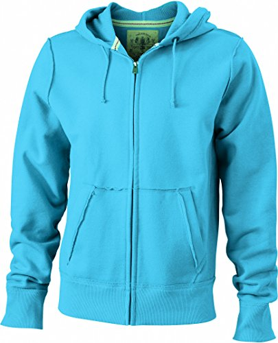 Vintage Felpa Giacca Men's In Turquoise Hoody 8qFCBwRT