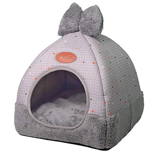 AKwell Pet House Dog Cat Tent House Kennel Winter Warm Nest Soft Foldable Sleeping Mat Pad