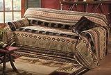 Saranac Lodge Bear & Moose Sofa Cover - Cabin Furniture