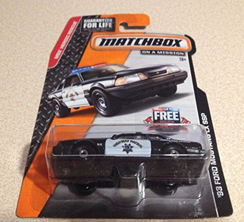 (Matchbox 1993 Ford Mustang LX SSP Highway Patrol Police Diecast Model Car)