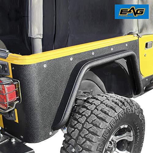 EAG Rear Fender Flares Fit for Corner Guards Off Road Armor 3 inch Fit for 97-06 Jeep Wrangler TJ
