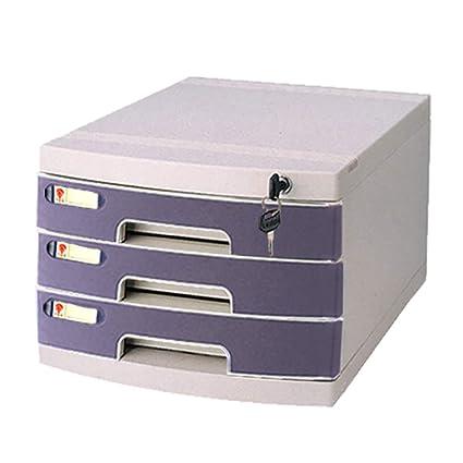 Armario de archivo, tipo de cajón de plástico de tres capas con archivador de archivo
