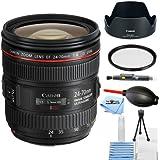 Canon EF 24-70mm f/4.0L IS USM Standard Zoom Lens 6313B002 [International Version] (Starter Bundle)