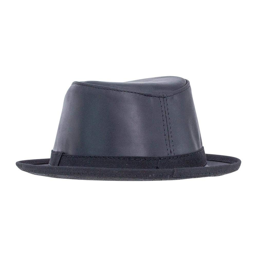 da8a4f95b11fd3 American Hat Makers Soho by Ashbury Hats Pork Pie Leather Fedora at Amazon  Men's Clothing store: