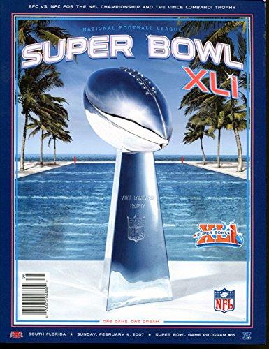 Super Bowl XLI 41 Program Colts v Bears Mint Condition ()
