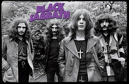 Black Sabbath Group, Wearing Crosses Music Poster Print