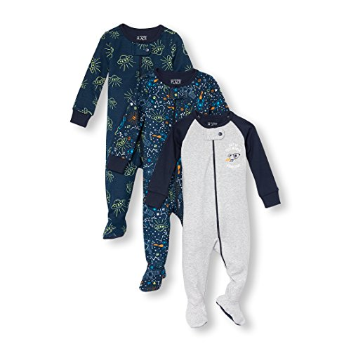 The Children's Place Baby Boys 3 Piece Stretchie Bundle, Tidal, 12-18MOS by The Children's Place