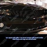 2010 camaro grille - Fits 2010-2013 Chevy Camaro LT/LS V6 Short Style Black Billet Grille Grill Combo # C61077H