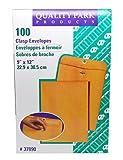 9 x 12'' Medium Manila Clasp Envelope - Quality Park - (100 Envelopes) - KE-3