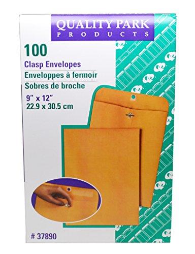 9 x 12'' Medium Manila Clasp Envelope - Quality Park - (100 Envelopes) - KE-3 by Miller Supply Inc