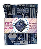 No sew Tie a pillow kit, Knot-it and Stuff, Precut fabric and stuffing, DIY craft project Selfme