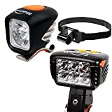 Magicshine Field Staff Choice MJ-900 Headlamp + Eagle M2 Bicycle Headlight, MTB Enduro Bike Light Combo | Spot Beam Flood Beam Combo Beam for Mountain Biking, Trail