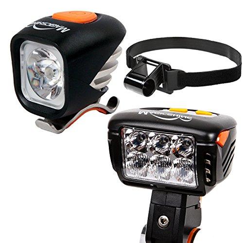 Magicshine Field Staff Choice MJ-900 Headlamp + Eagle M2 Bicycle Headlight, MTB Enduro Bike Light Combo   Spot Beam Flood Beam Combo Beam for Mountain Biking, Trail by Magicshine