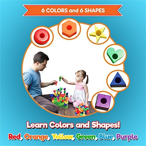 36 Pegs Kids Korner Colors /& Shapes Educational Toys for 2 3 4 5 Year Old Girl and Boy Peg Board Games for Toddlers Fine Motor Skills Rainbow Matching Game Kids Toys with Preschool Learning Activities eBook