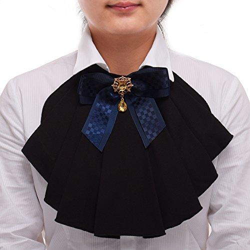 Chiffon Dress Ruffle Neck (BLESSUME Victorian Chiffon Jabot Neck 1pc)