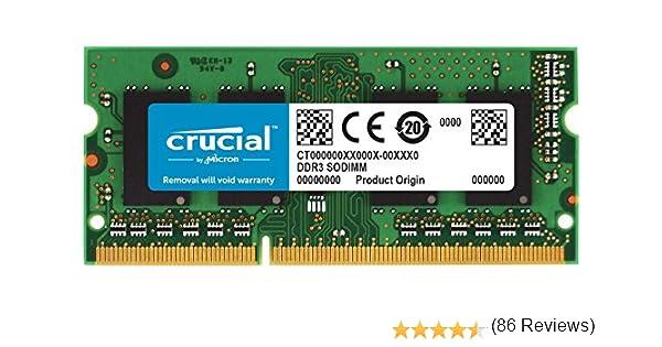 Crucial CT2G3S1067M - Memoria para Mac de 2 GB (DDR3/DDR3L, 1066 ...