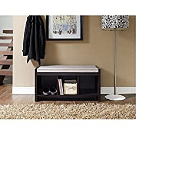 Altra Storage Bench With Cushion. A Convenient Seat Offering Hallway Storage,  This Entryway Bench